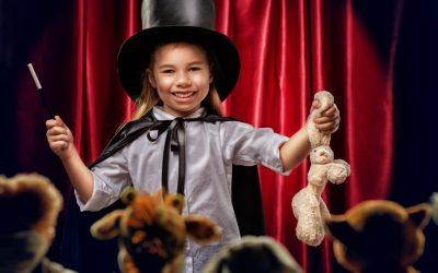 Fiesta de magia Infantil en un colegio de Barcelona